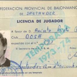 1973-74 Carnet de Aniceto Prieto