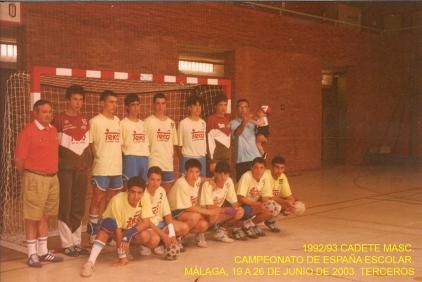 1992-93 Cadete Teka Salesianos Málaga