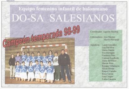 1998-99 Infantil Femenino